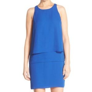 Charles Henry layered shift dress